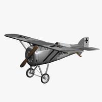 3d monoplane aviatik 30 40 model