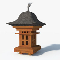 bali garden lamp teak 3d max