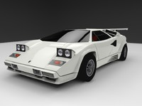 lamborghini countach 1988 3d model