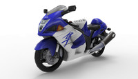 3d hayabusa bike