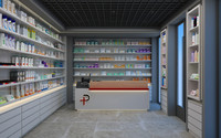 3d model of pharmacy scene