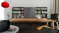 3d b bookcase 1 -