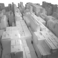 3d max cityscape landscape town