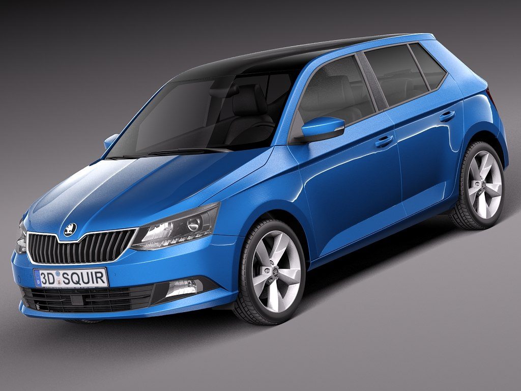 3d model 2015 skoda fabia. Black Bedroom Furniture Sets. Home Design Ideas