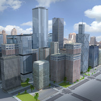 3d city building new york