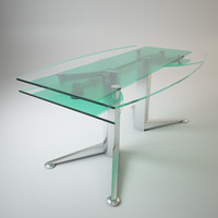 folding glass table 3d max
