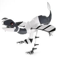 robot dinosaur bot obj