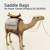 Solo Saddle Bags for Poser Camel