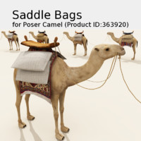 saddle bag poser prop 3d model