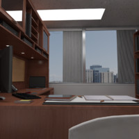 managers office 3d model