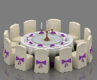 3d model of wedding table