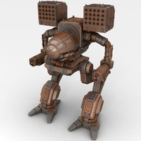 mech warrior madcat 3d model