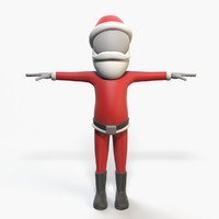 3d santa claus - character rigged model