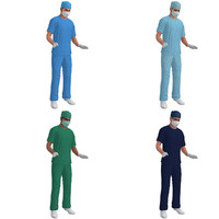 3d rigged surgeon model