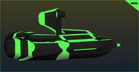 free obj mode scifi boat ship