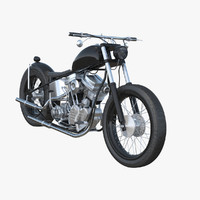 3d max custom motorcycle