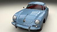 3d model porsche 356