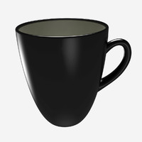 max tea cup ceramic black