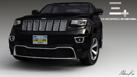 3d model of 2014 jeep grand cherokee