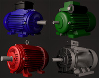 4 electric motors 3d model