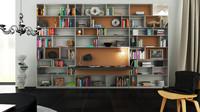 3d b bookcase 33 - model