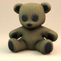 3d teddy bear little model