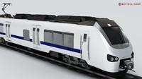 generic commuter train 3d model
