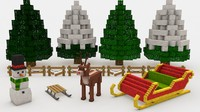 Minecraft Christmas Pack Outside Part 1