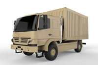 3d atego military truck model