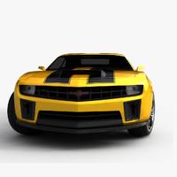 3d 2013 chevrolet camaro bumblebee model