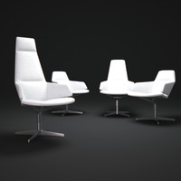 aston-direction-swivel-armchair 3d obj