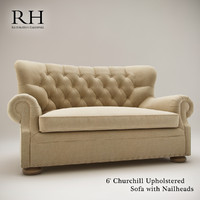 6 churchill upholstered sofa 3d model