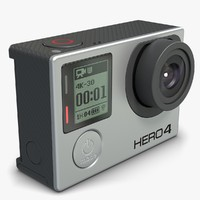 action gopro 4 black 3d model