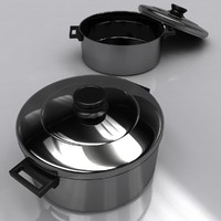 3ds cookware pot