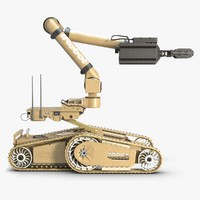3d irobot warrior x700 robotic model