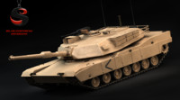 3d heavy tank m1 abrams model