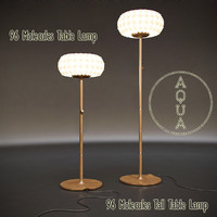 3d model aqua 96 molecules floor lamp