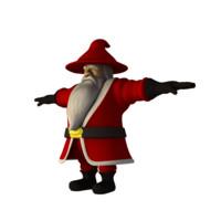 dwarf santa claus 3d fbx
