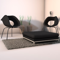 3dsmax designs living room corner