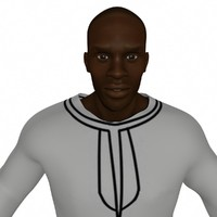 3d model african tunic