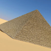 3d realistic egyptian pyramid