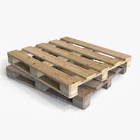 wooden pallet wood 3d obj