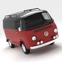 free volkswagen type 2 3d model