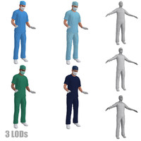 3d model rigged surgeons pack s