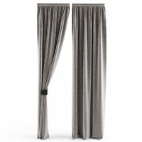 3d model curtains slim