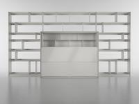 3d model b bookcase 5 -