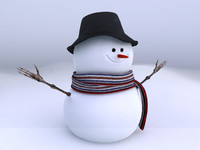 3dsmax snowman modeled rendered