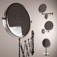 magnifying mirrors drops 3d model