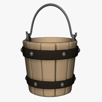 bucket container pail 3d model