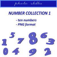 Blue numbers collection 1